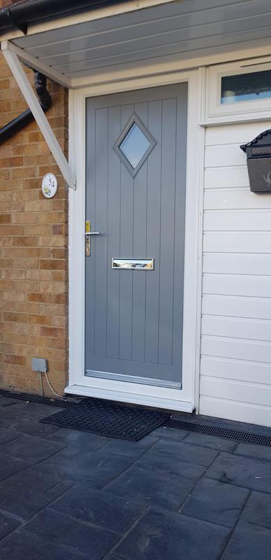 Image 48 - Dusty grey cottage diamond composite door
