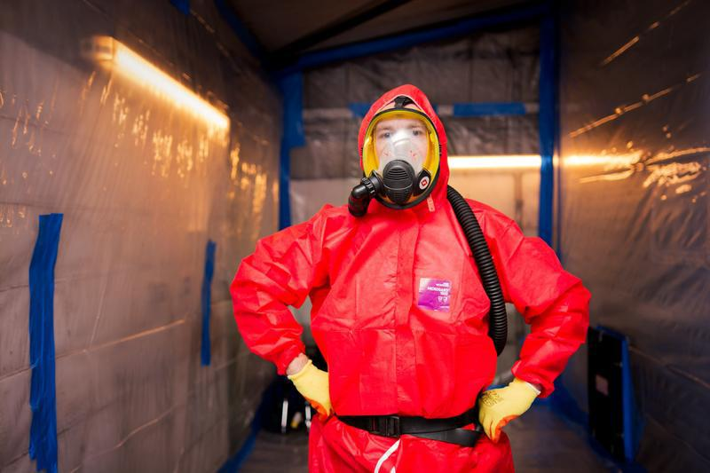 Image 5 - Fully kitted asbestos removal operative