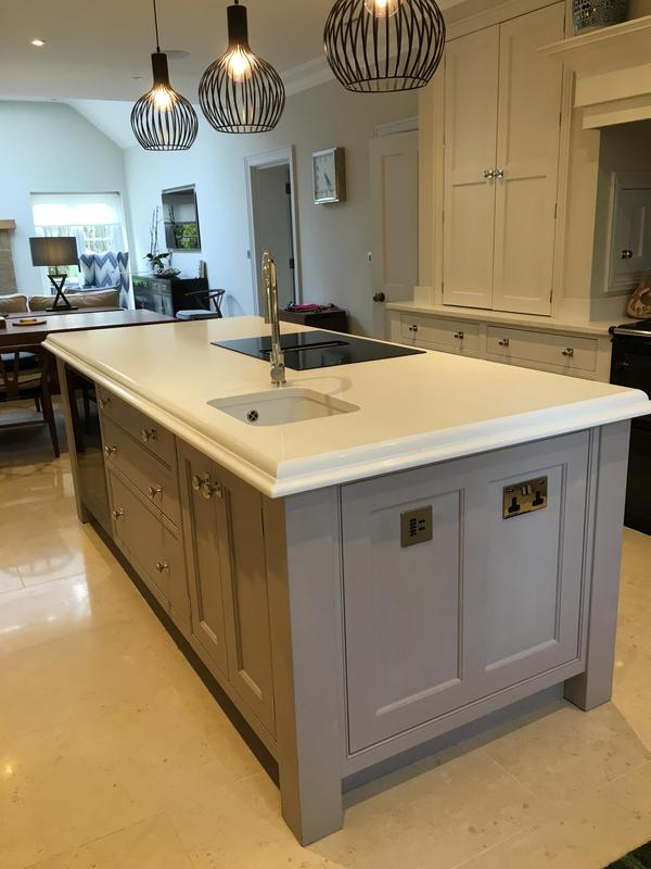 Image 14 - Bespoke island to match existing kitchen. Fitted with 60mm profiled quartz top.