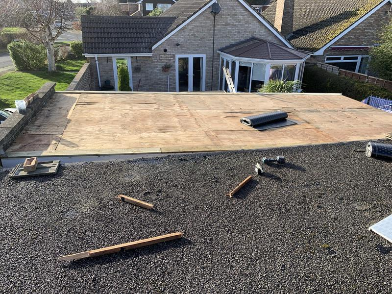 Image 15 - New board fitted to garage roof