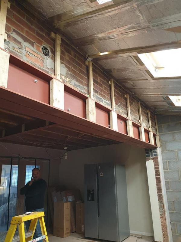 Image 154 - Prep for plaster board Job E