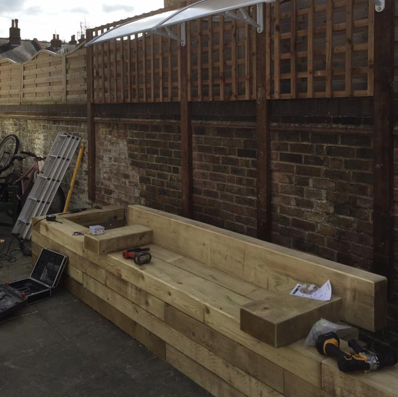 Image 13 - We were asked by a local charity that houses homeless teenagers to build a seating area and a raised planter to grow their own vegetables.
