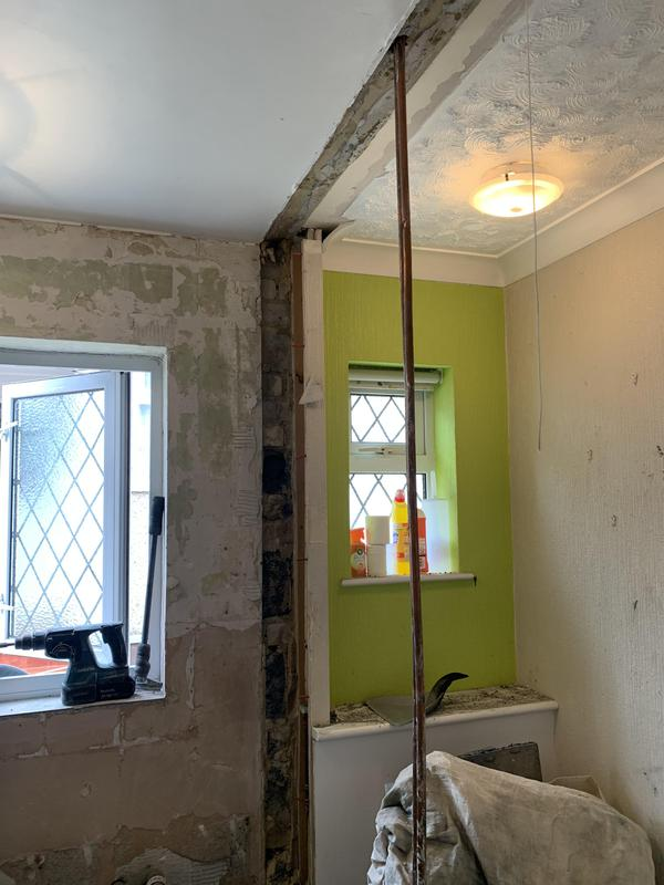 Image 40 - BEFORE. Dartford Bathroom. 2 rooms into 1 room