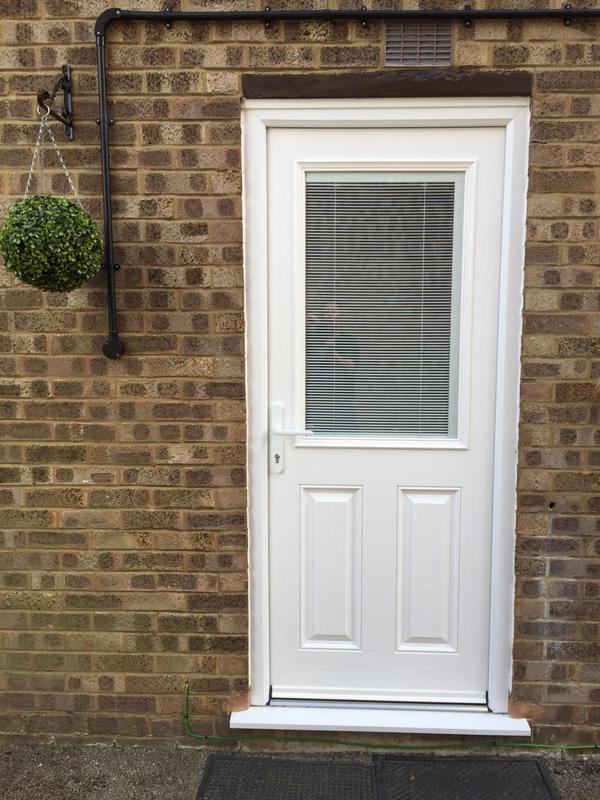 Image 23 - Composite door with internal blinds