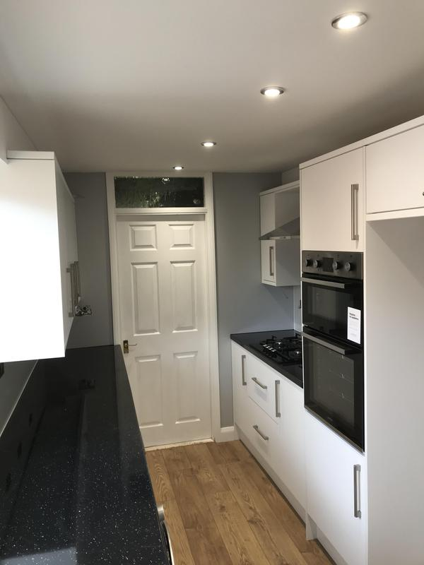 Image 19 - Customer 0124: A gally kitchen all Redesigned and fitted. We sorted the electrics, Gas, painting and kitchen fit. A little harder to take these photos due to the space.