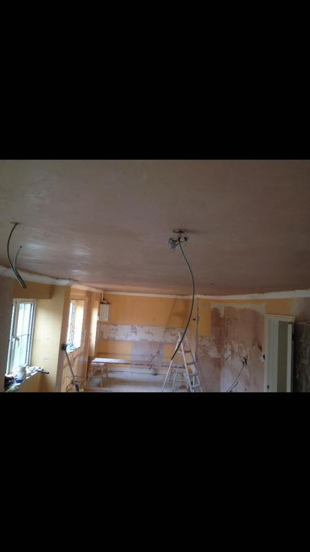 Image 47 - skimming over artex ceiling