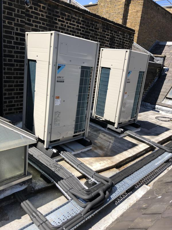 Image 1 - Two daikin condensers and pipe work installed at our job in Piccadilly  london. Neatness is key.