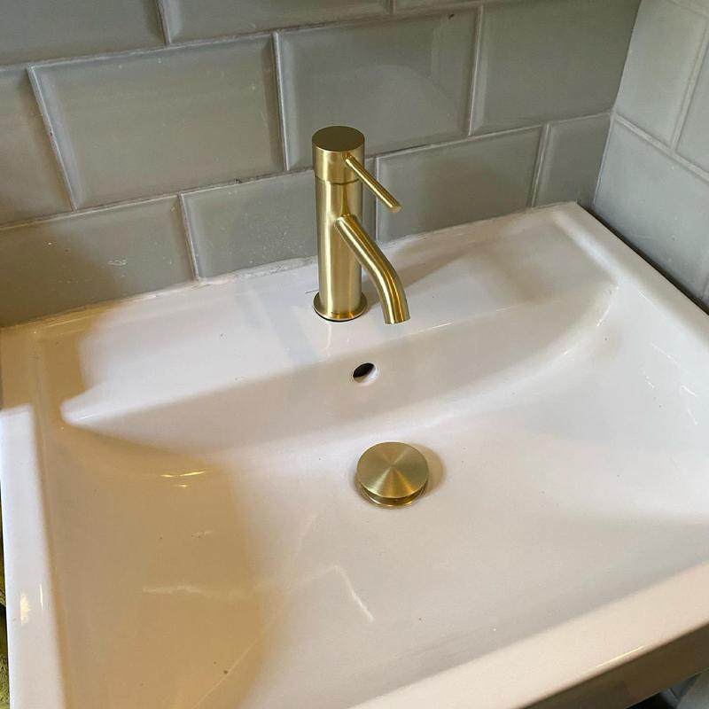 Image 2 - Plumbing Brixton - installing a new basin tap and sink waste. We offer a 12 month guarantee on all of our work. Handy Gentlemen