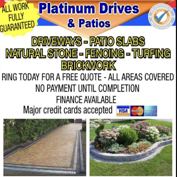 Platinum Drives & Patios logo