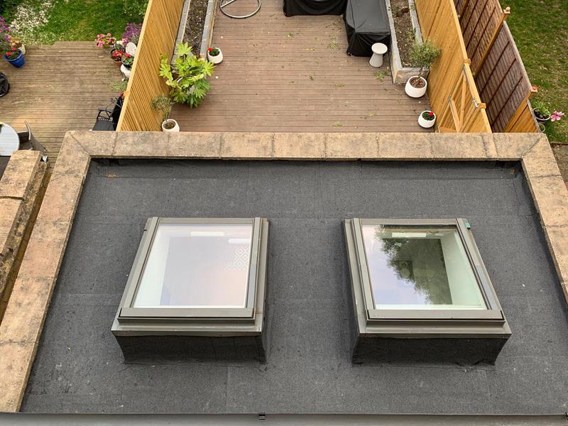 Image 56 - New flat roof.