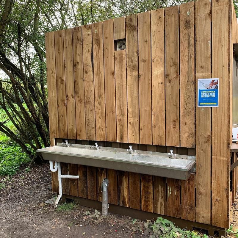Image 3 - New hand wash station with timber cladding to containers - Milton Country Park.