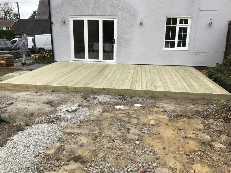 Image 15 - A fully constructed decking contract in faversham