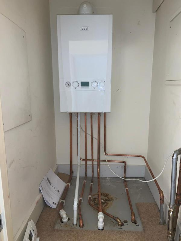 Image 17 - New boiler install, this was a conversion, we took old boiler out and tanks and converted the system to a combi