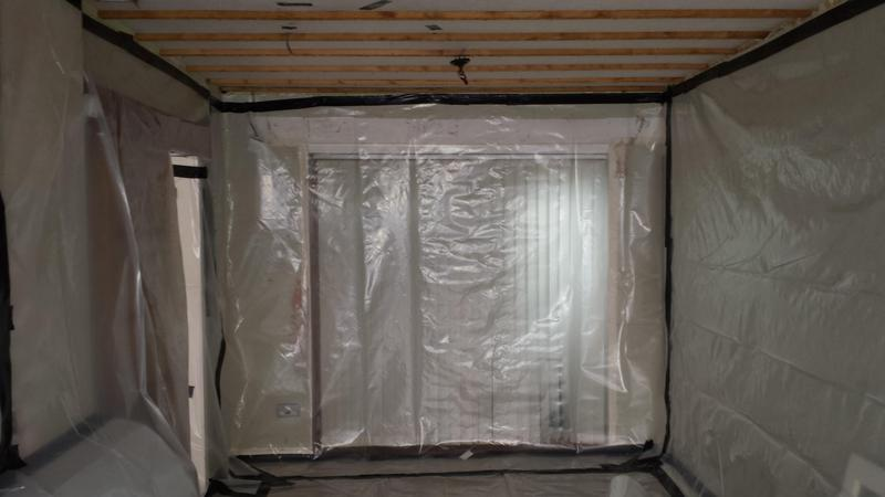 Image 18 - Asbestos Textured Coating (Artex) Removal - DURING