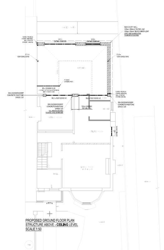 Image 14 - Rear extension. Ground floor ceiling. Vaulted roof. Redbridge. East London.