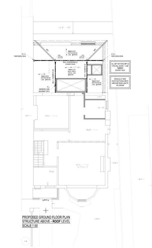 Image 13 - Rear extension. Ground floor plan. Redbridge. East London.