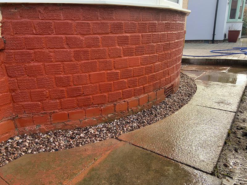 Image 3 - Installing damp proof course - after