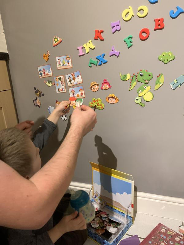 Image 54 - A magnetic plastered kitchen wall I did painted in a washable paint.Used for educational purposes.