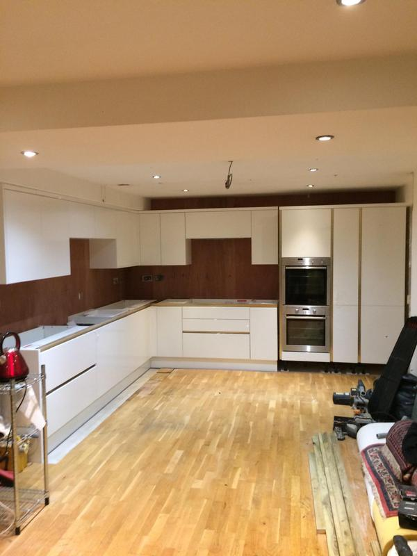 Image 25 - Finished kitchen fitted. Please note another company were fitting the work tops as they were granite and the client was tiling himself.