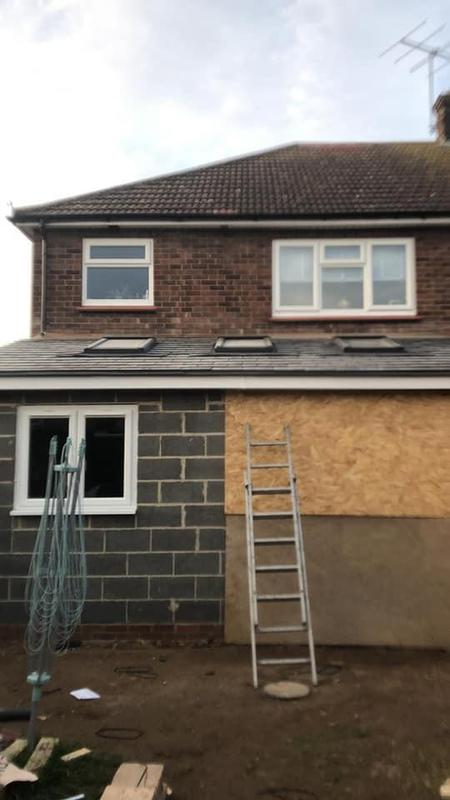 Image 155 - Extension ready for cladding, window and doors Job E