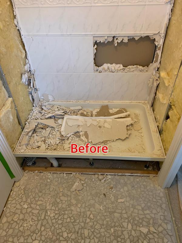 Image 37 - BEFORE. Crayford Bathroom refurbishment