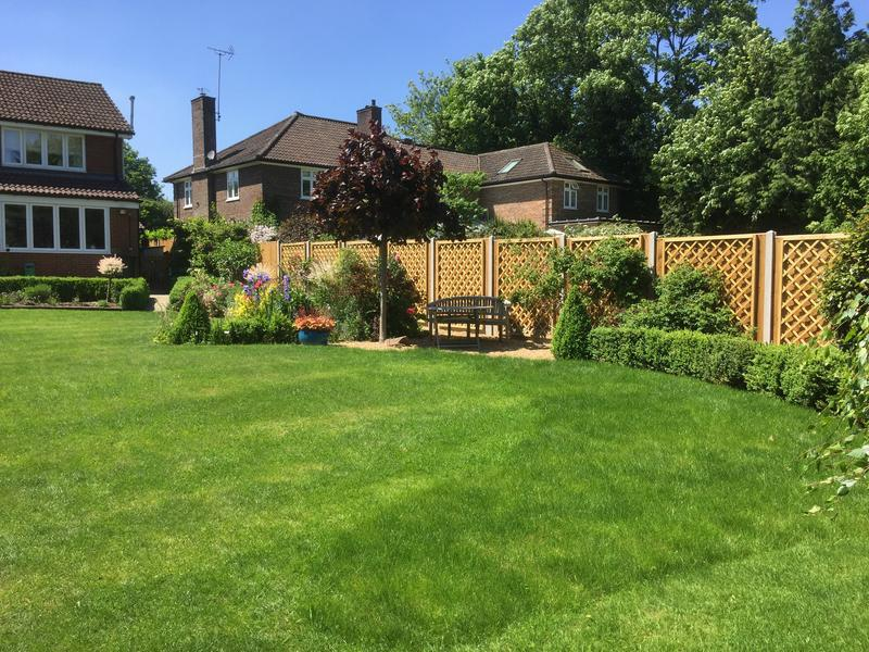 Image 3 - This landscaping job carried out by Warbury fencing was a fence, turfing and summer house build for a regular customer in Harpenden