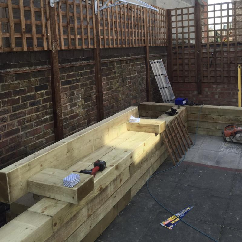 Image 14 - More of the seating & raised planter area we were building for a local charity that houses homeless teenagers.