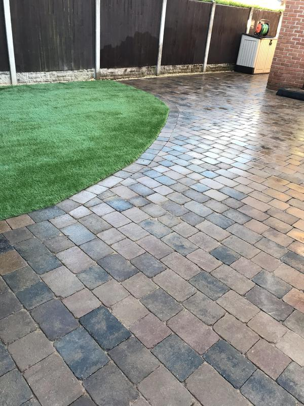 Image 29 - New Sorrento block patio with a Artificial turf