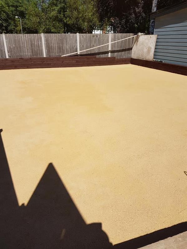 Image 130 - Sharp sand levelled for Astro turf