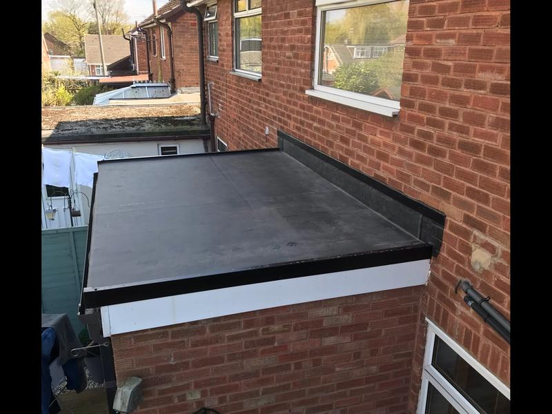 Image 123 - This is the picture to follow as we fitted Firestone rubber roof to this ladies porch, she had the option of felt or rubber, much preferred the rubber as most customers do these days.