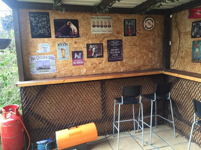 Image 8 - Roby Rd, garden bar with electrics, plumbing, TV.