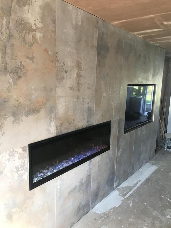 Image 14 - Bespoke tv and fire wall