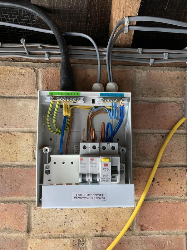 Image 54 - Garage garden power install.