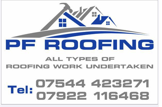 PF Roofing logo