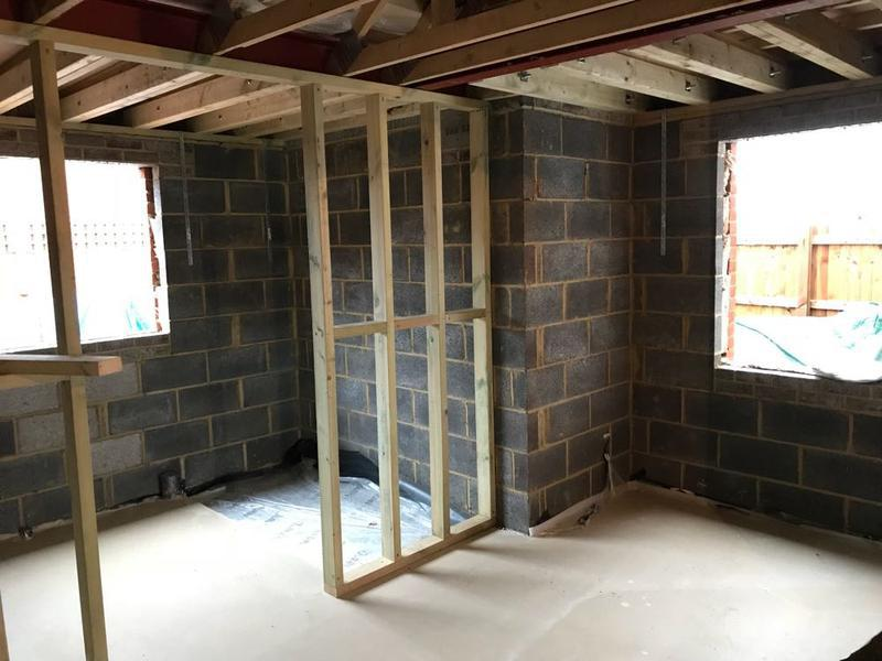 Image 49 - stud walls being fitted