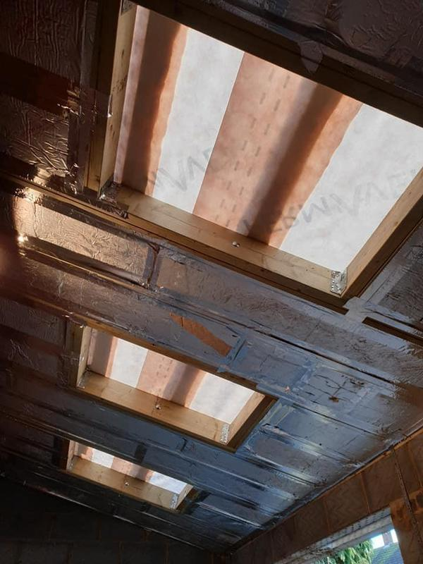 Image 146 - Inside of roof structure Job E