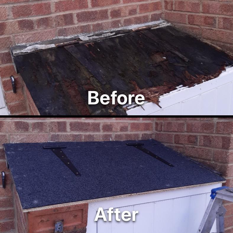 Image 3 - New felt roof