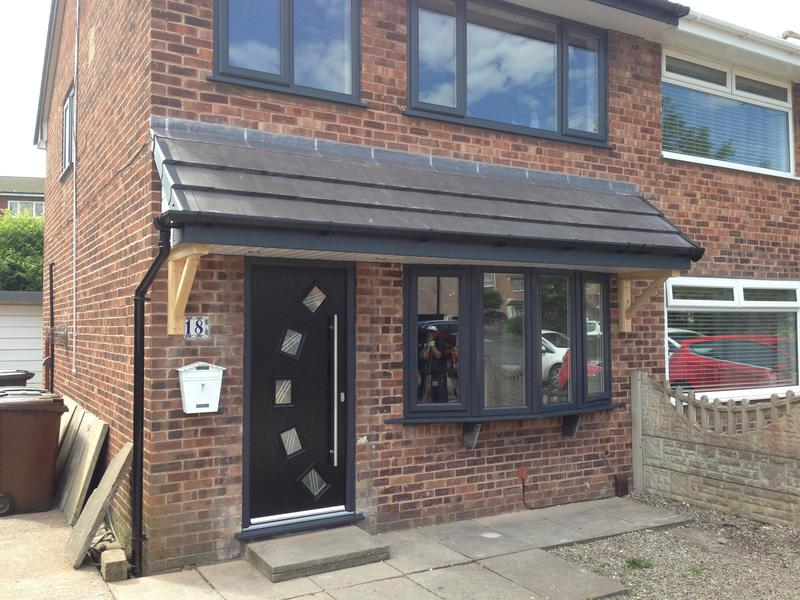 Image 8 - Corsock close finished.everything on this from grey fascia white soffit , black gutters . New canopy, windows and doors . Thankyou Belinda & Barry. Been a absolute pleasure