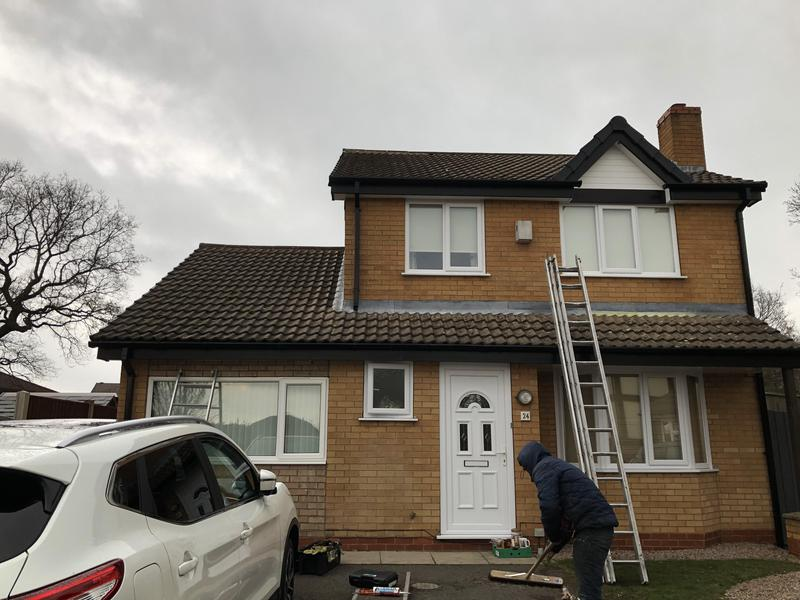 Image 45 - Black UPVC fascias & gutters with white soffits