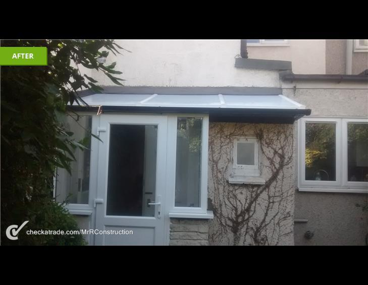 Image 52 - new polycarbonate roof & new upvc door and windows