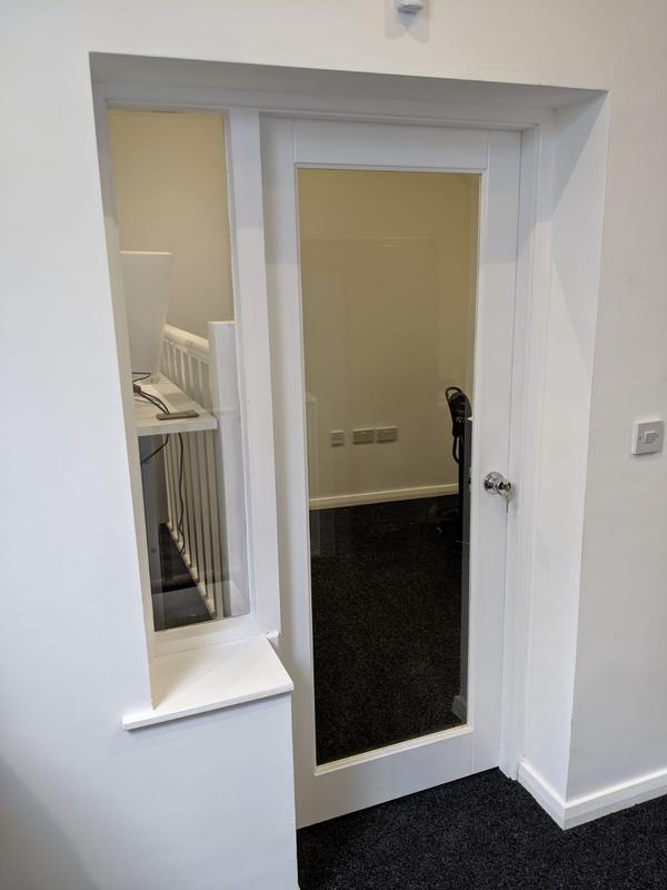 Image 25 - Locking handles fitted to office door for added privacy