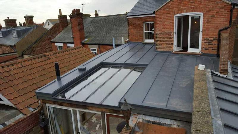 Image 1 - Extension roof with glazing insert.