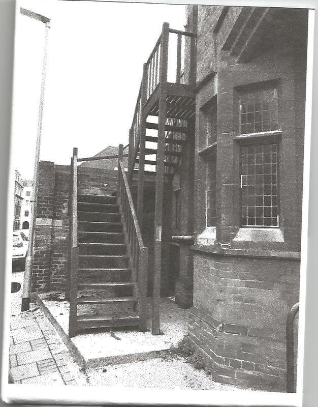 Image 4 - Cambridge Baptist Church Old fire escape for removal