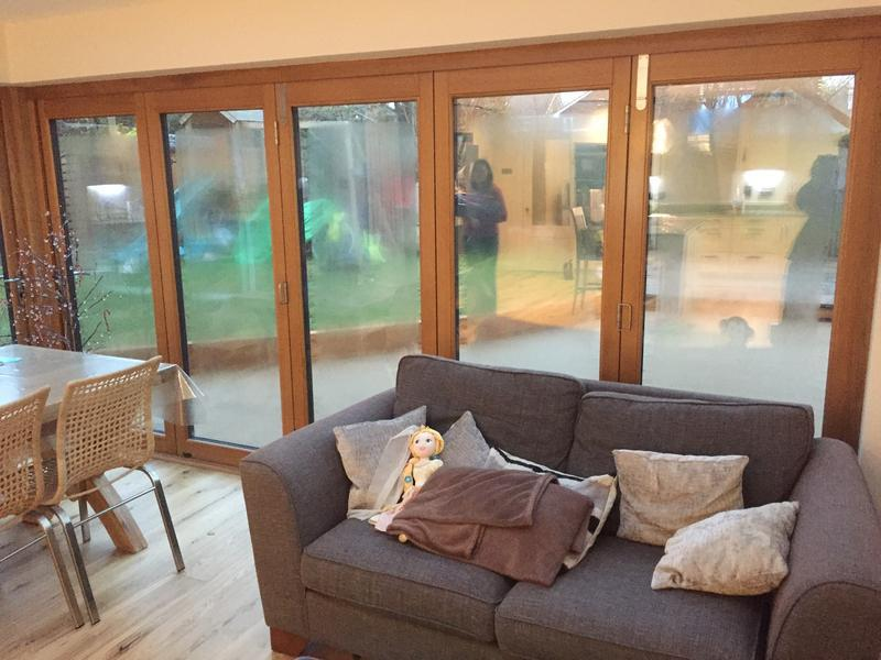 Image 11 - Inside oak triple glazed bi-fold doors to orangery
