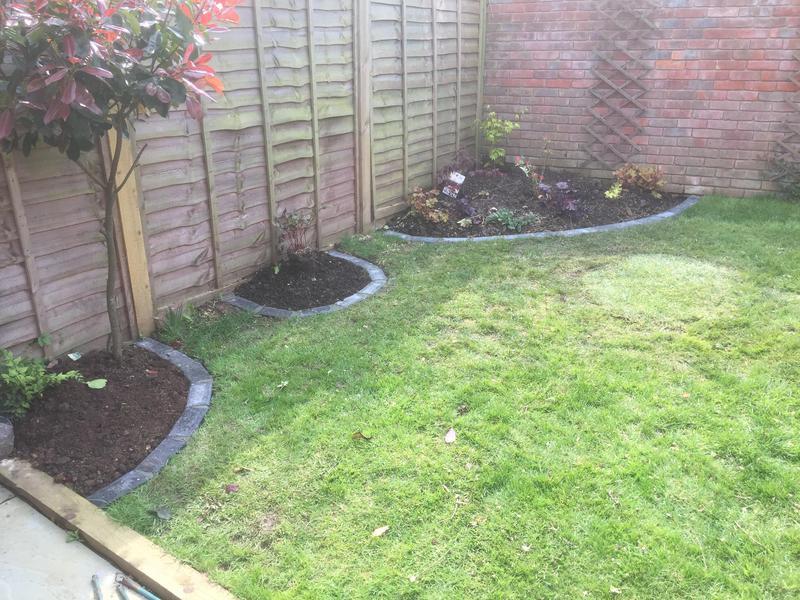 Image 14 - Flower beds shaped dug & finished with brick edging .