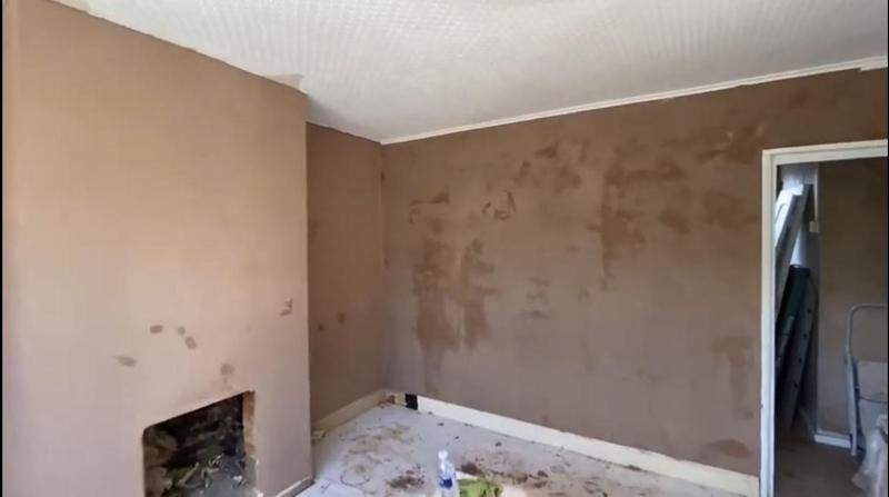 Image 8 - Plastered living room.