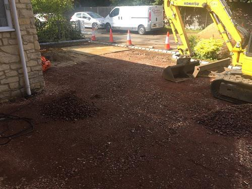 Image 101 - Block paving driveway with granite setts in Shalford