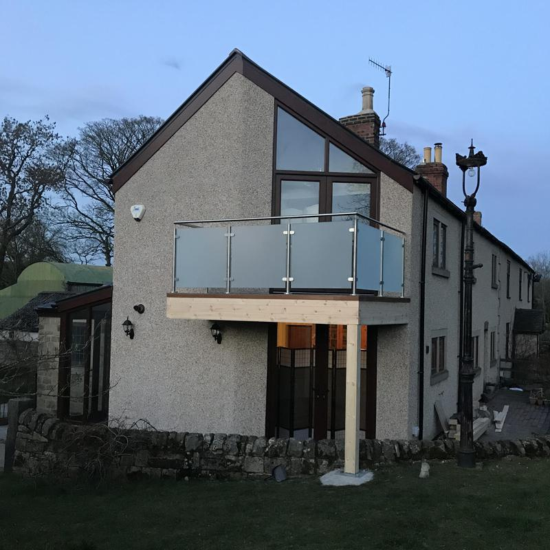 Image 11 - We love before and afters. Double-storey extension done by us in Lower Heartshay. Our costumers are over the moon, especially because they can now relax and enjoy the view from their balcony. We completed the side extension as well as the slate roofing , porch, patio and balcony.