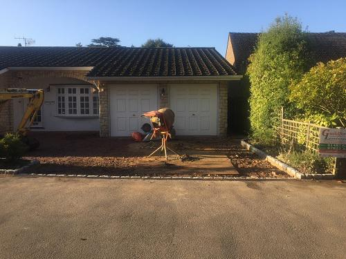 Image 102 - Block paving driveway with granite setts in Shalford