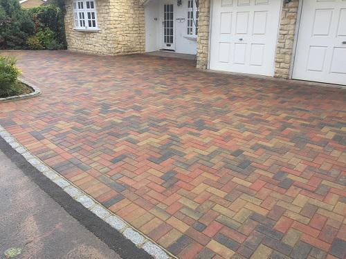 Image 105 - Block paving driveway with granite setts in Shalford
